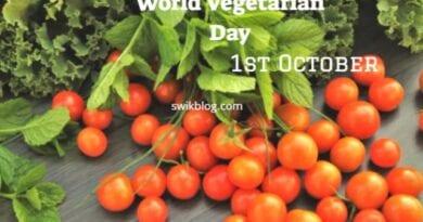 World Vegetarian Day 1st October 2020