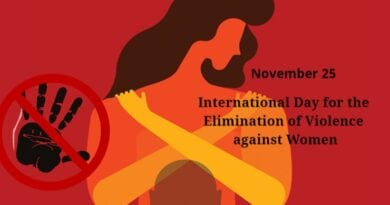 International Day for the Elimination of Violence against Women 25th November 2020 Theme